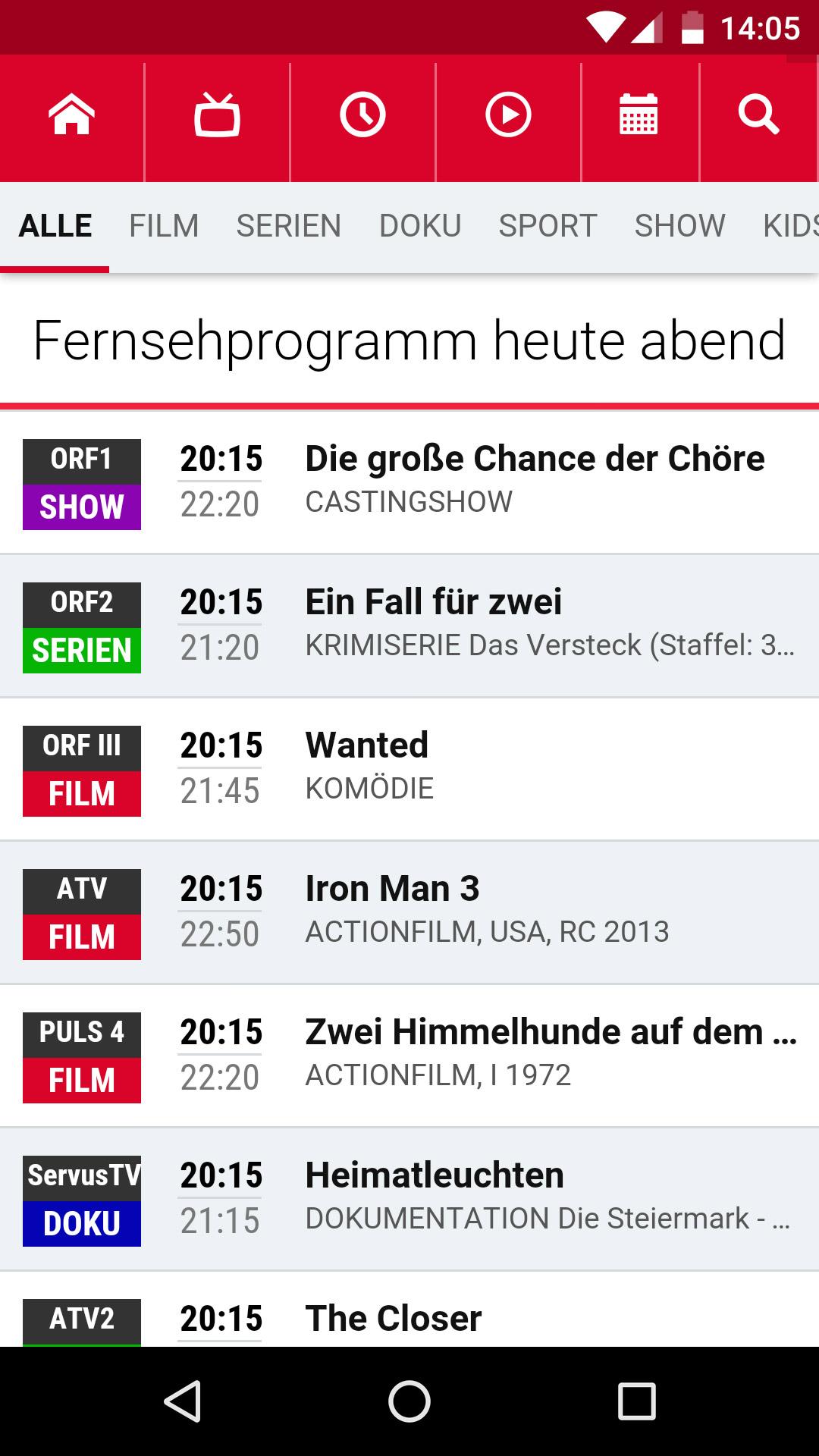 Fernseh Programm